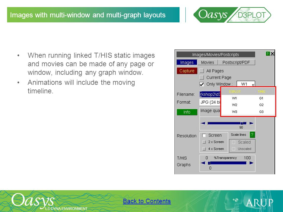 Images with multi-window and multi-graph layouts