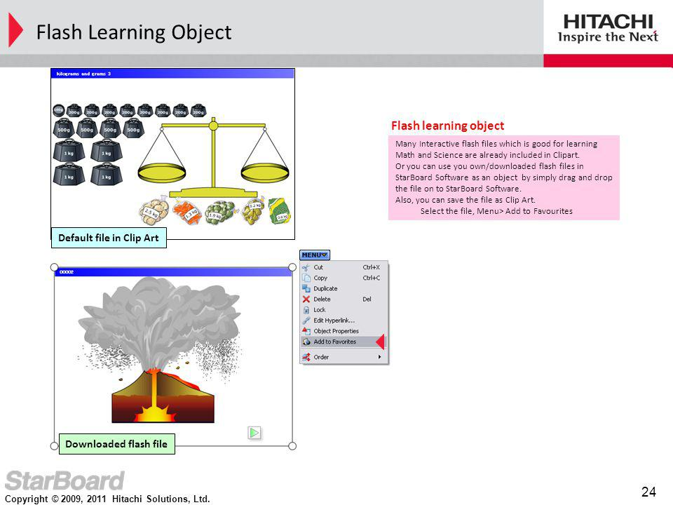 Flash Learning Object Flash learning object Default file in Clip Art