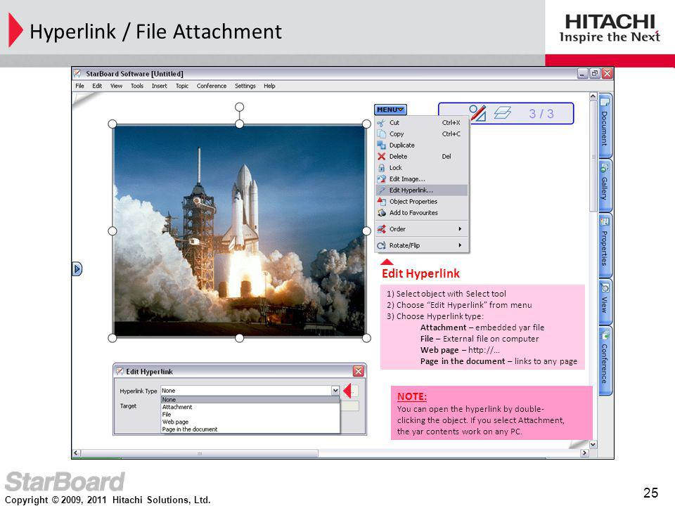 Hyperlink / File Attachment