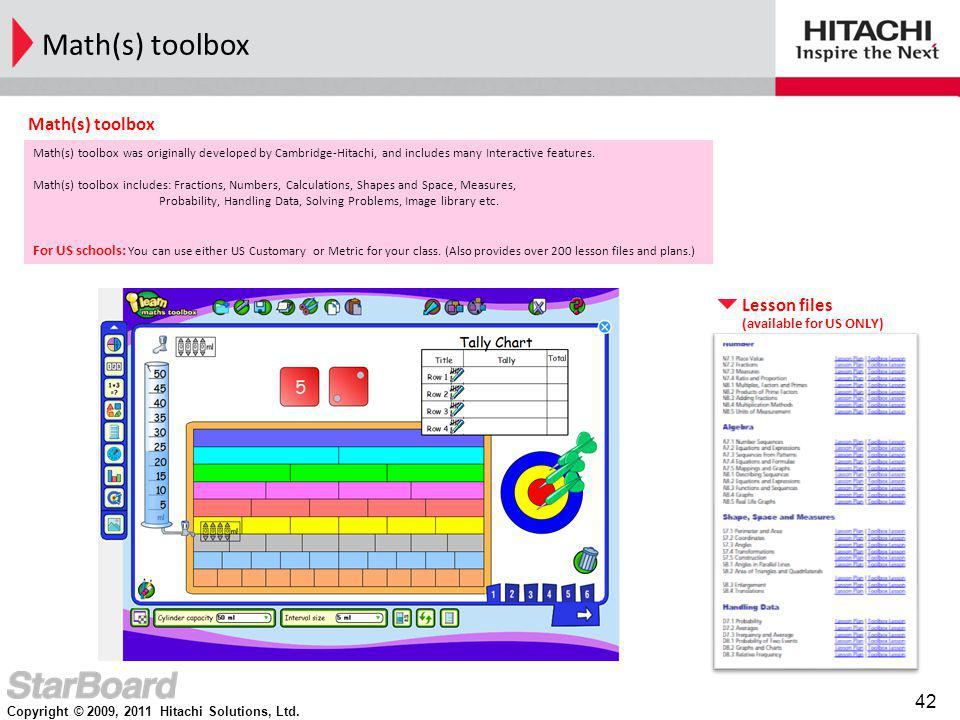 Math(s) toolbox Math(s) toolbox Lesson files