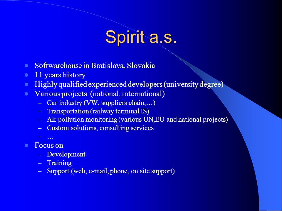Spirit a.s. Softwarehouse in Bratislava, Slovakia 11 years history