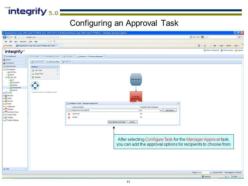Configuring an Approval Task