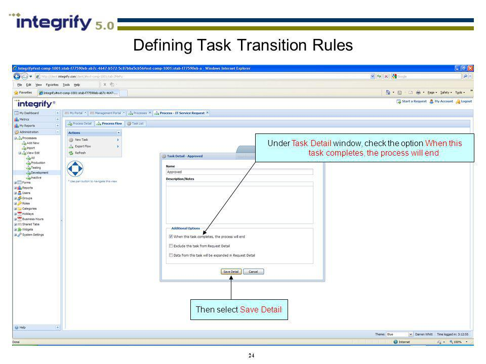 Defining Task Transition Rules