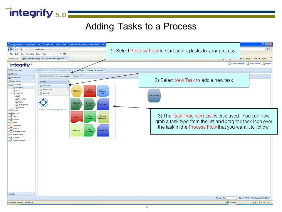 Adding Tasks to a Process