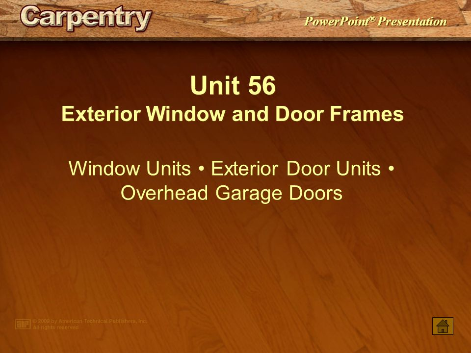 Exterior Window And Door Frames Ppt Video Online Download