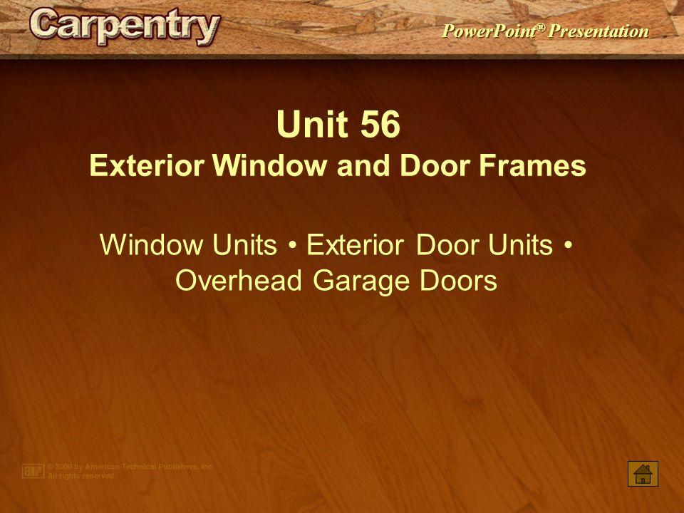 Exterior Window and Door Frames