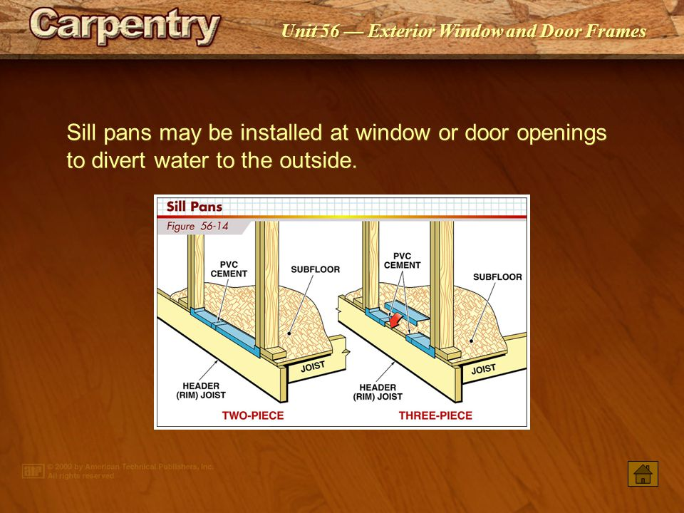 Exterior window and door frames ppt video online download - Installing prehung exterior door on concrete ...