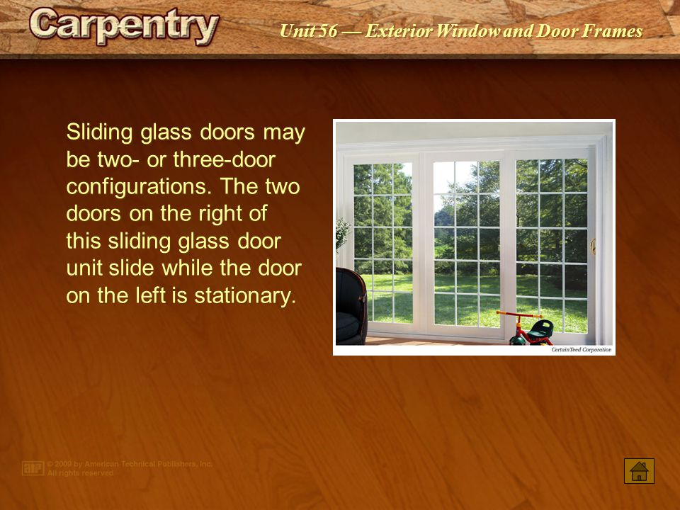 Excellent frame rough opening sliding glass door photos best exterior window and door frames ppt video online download planetlyrics Choice Image