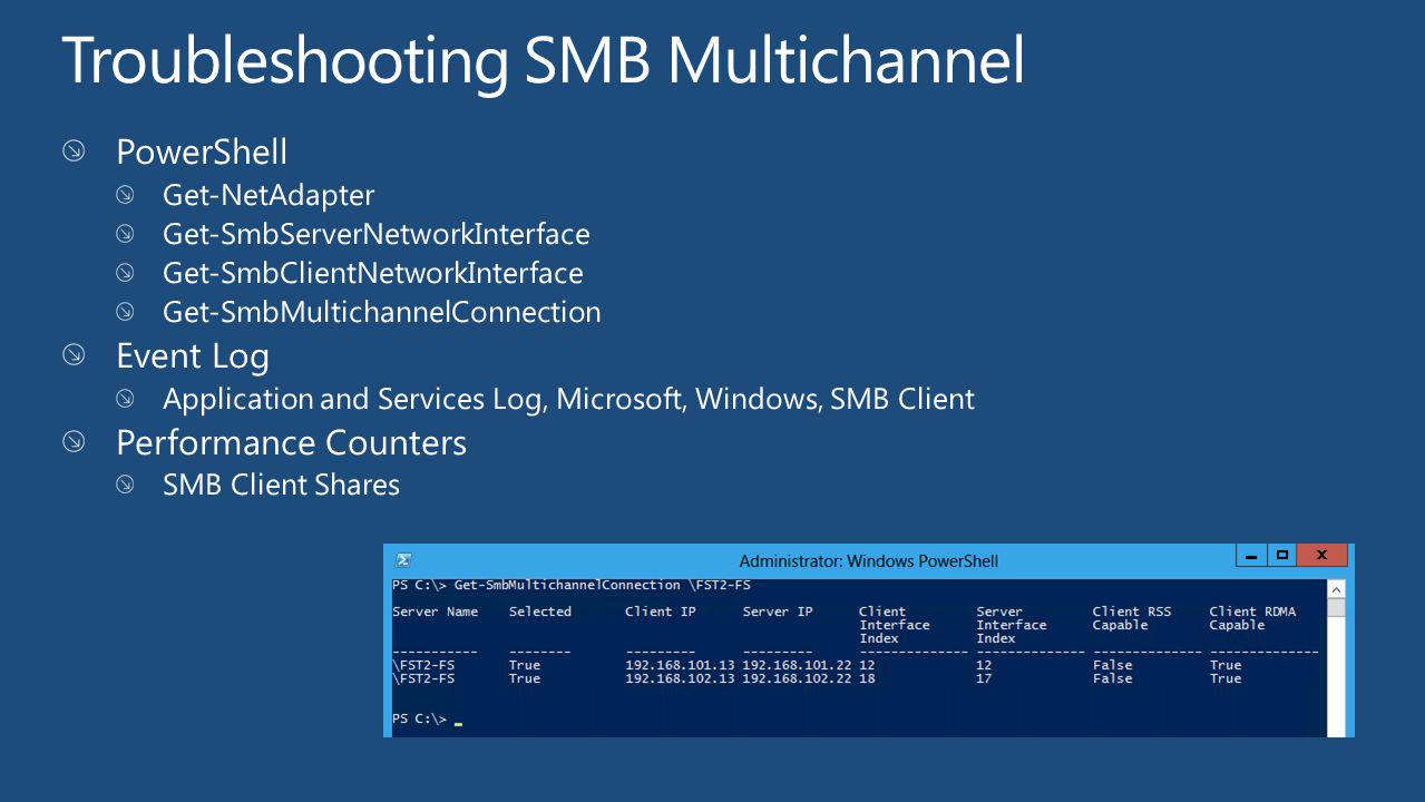 Troubleshooting SMB Multichannel
