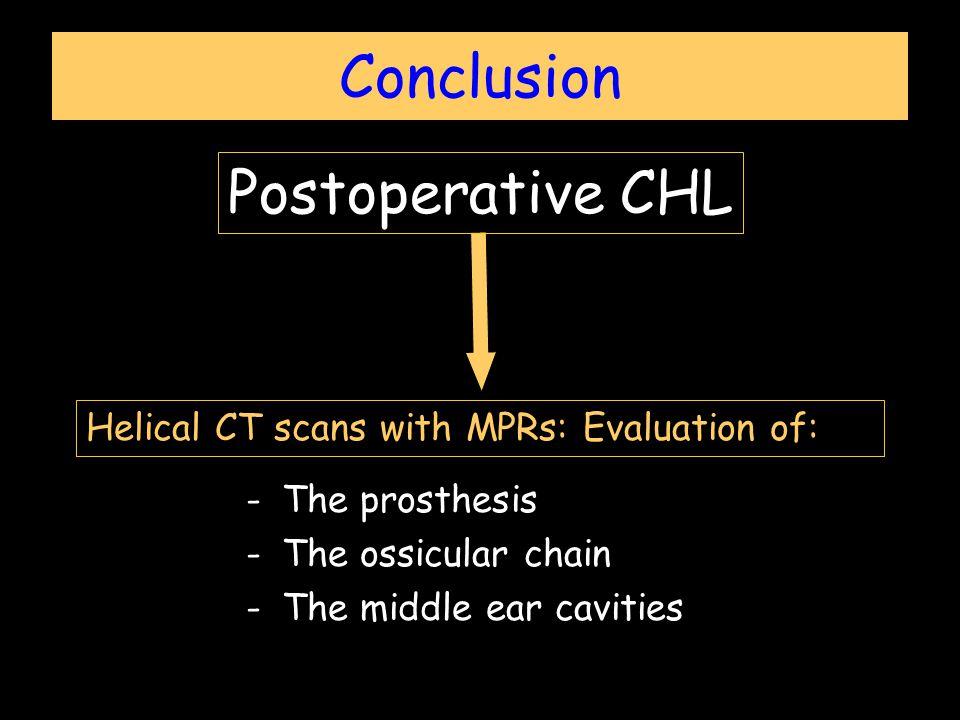 Conclusion Postoperative CHL