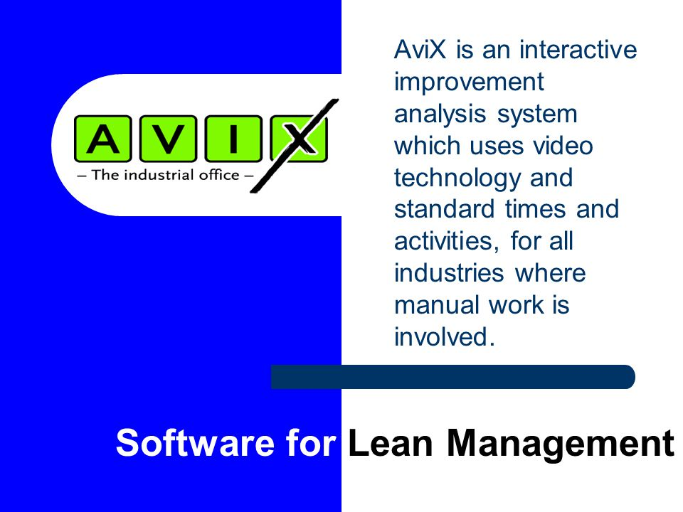 Software for Lean Management
