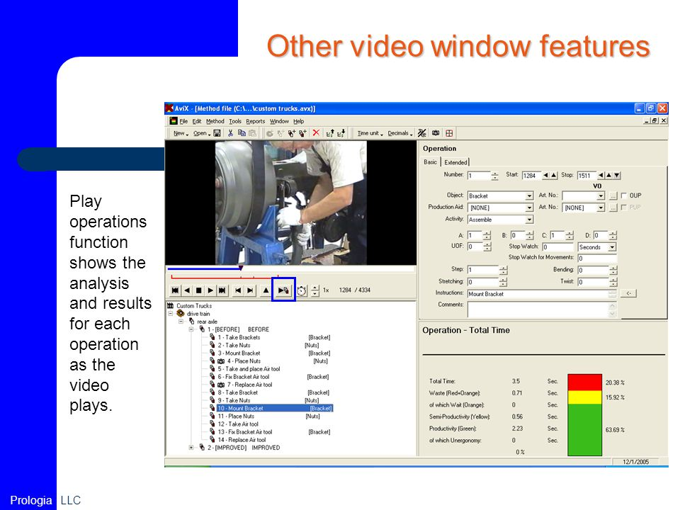 Other video window features