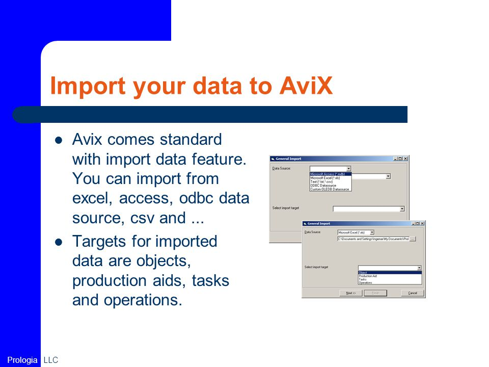 Import your data to AviX