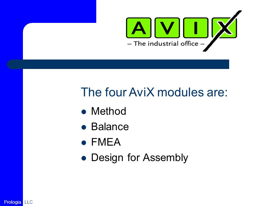 The four AviX modules are: