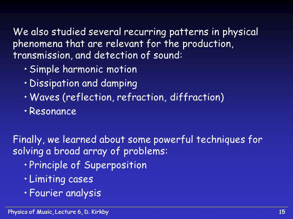 Simple harmonic motion Dissipation and damping