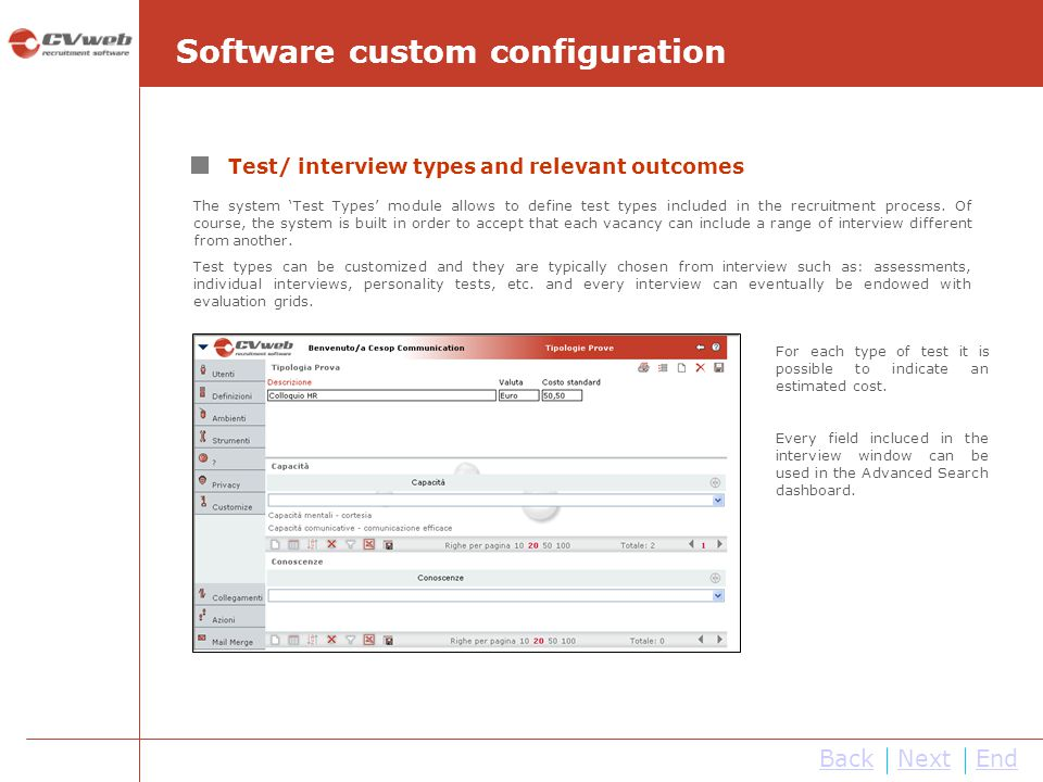 Software custom configuration