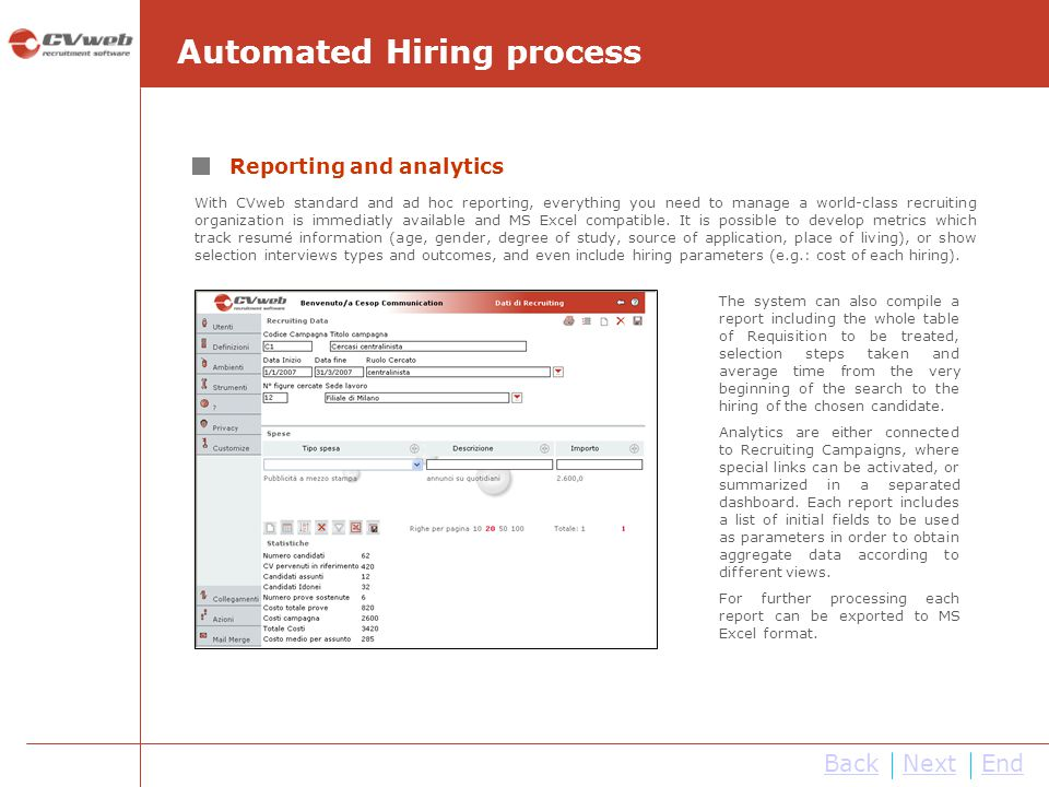 Automated Hiring process