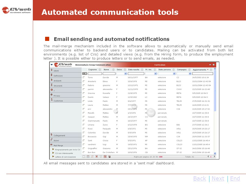 Automated communication tools