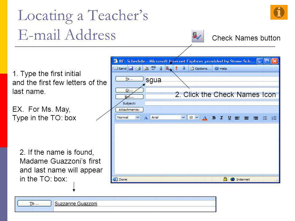 Locating a Teacher's E-mail Address
