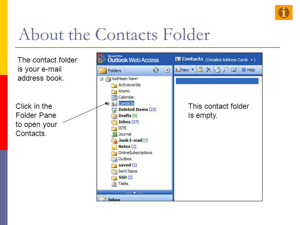 About the Contacts Folder