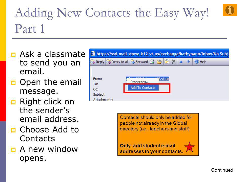 Adding New Contacts the Easy Way! Part 1