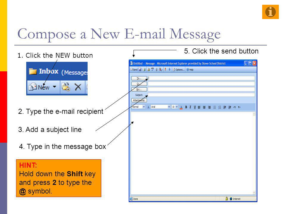 Compose a New E-mail Message