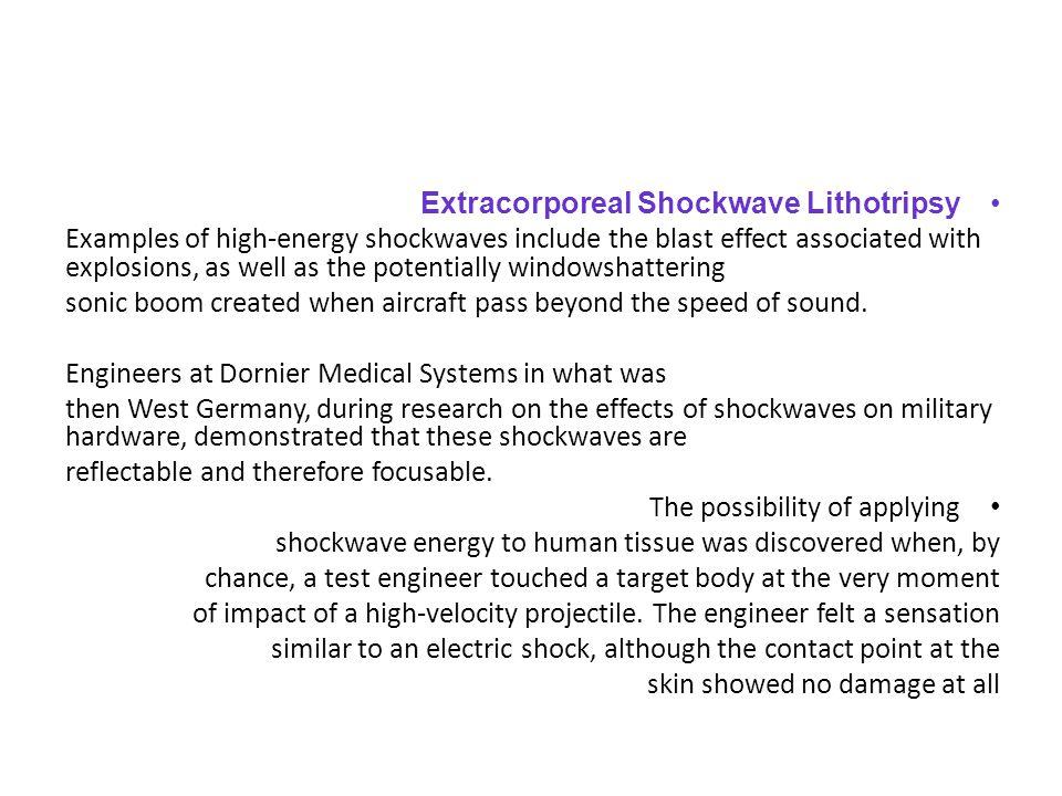 Extracorporeal Shockwave Lithotripsy