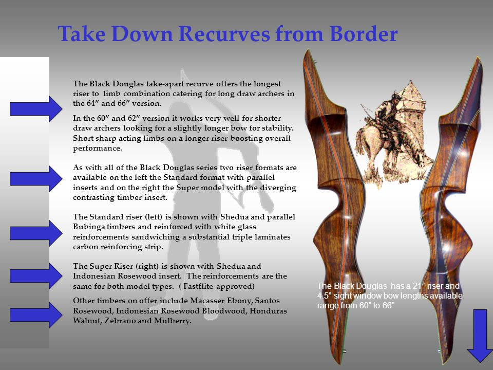 Take Down Recurves from Border
