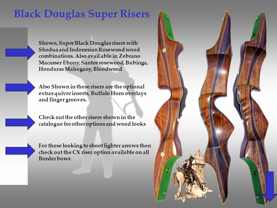 Black Douglas Super Risers