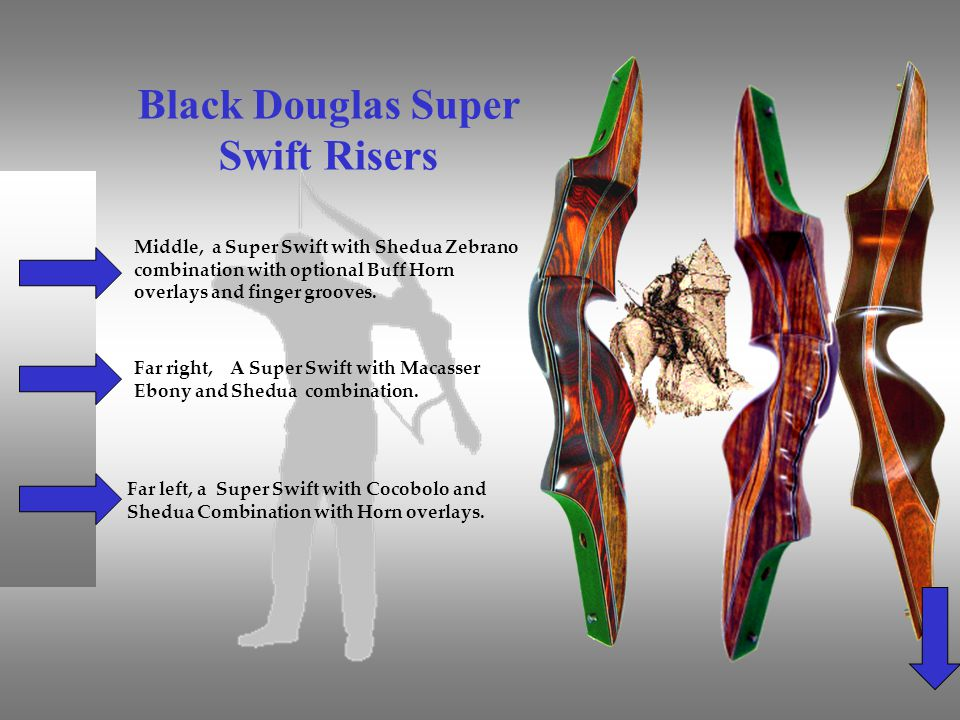 Black Douglas Super Swift Risers