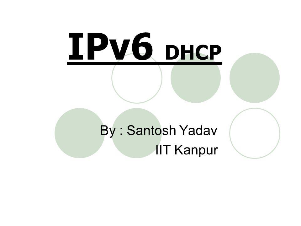 By : Santosh Yadav IIT Kanpur