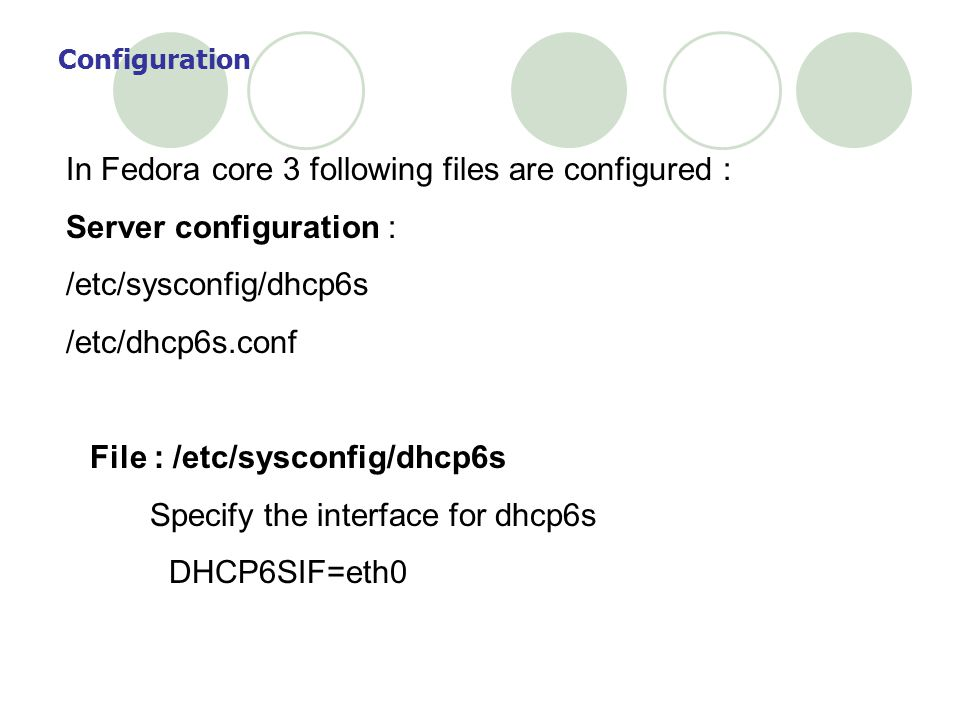 In Fedora core 3 following files are configured :