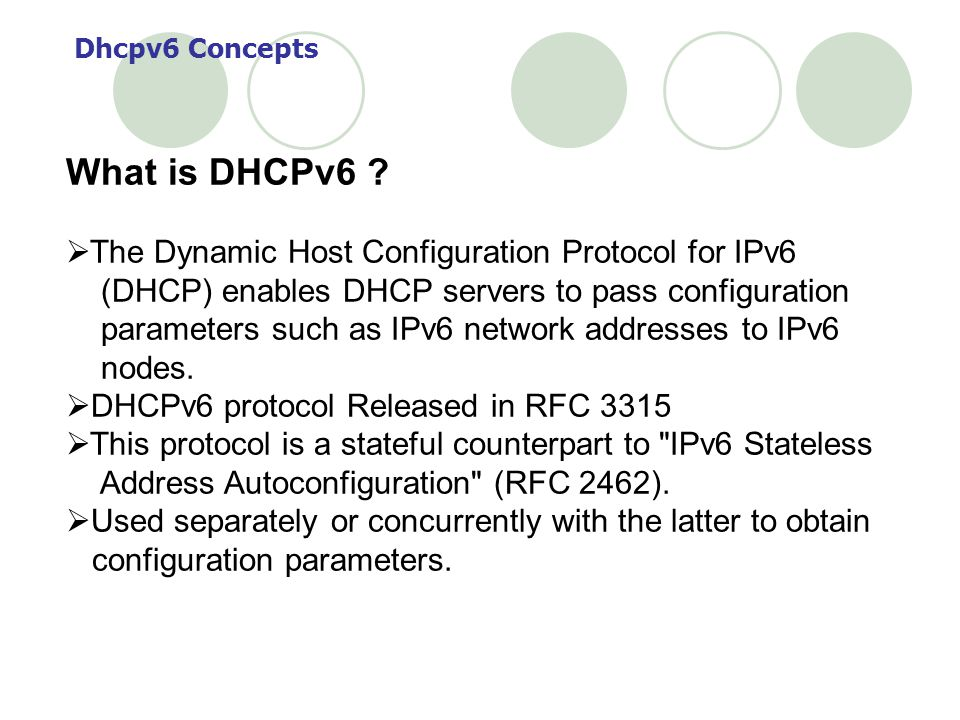 What is DHCPv6 The Dynamic Host Configuration Protocol for IPv6