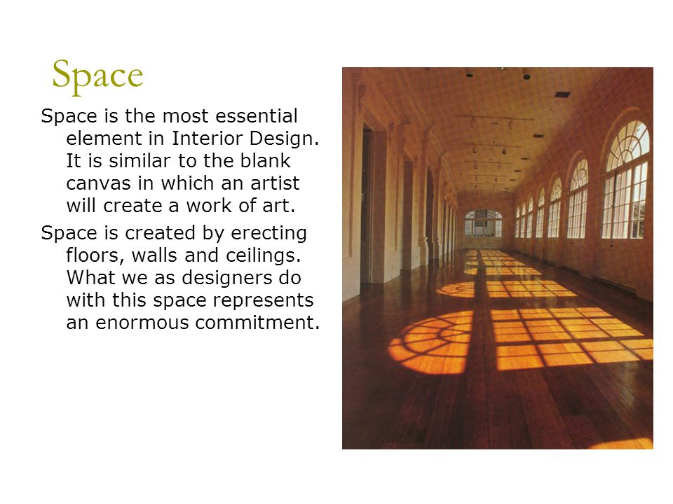Elements space form line texture ppt video online for Interior decoration elements