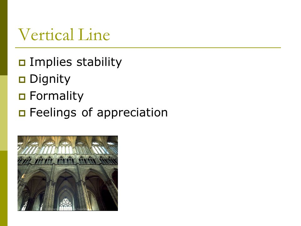 Vertical Line Implies stability Dignity Formality