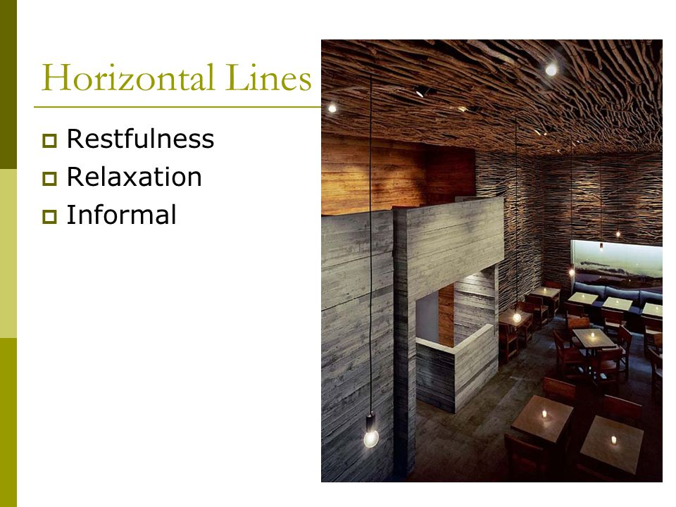 Horizontal Lines Restfulness Relaxation Informal