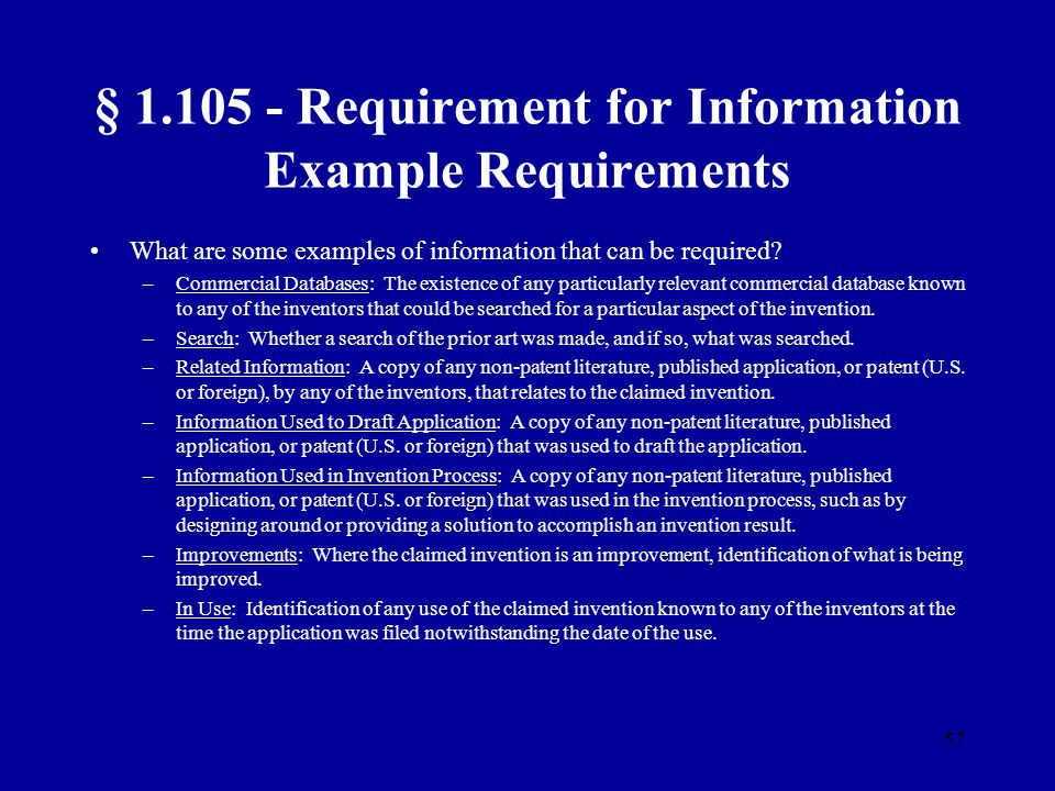 § 1.105 - Requirement for Information Example Requirements