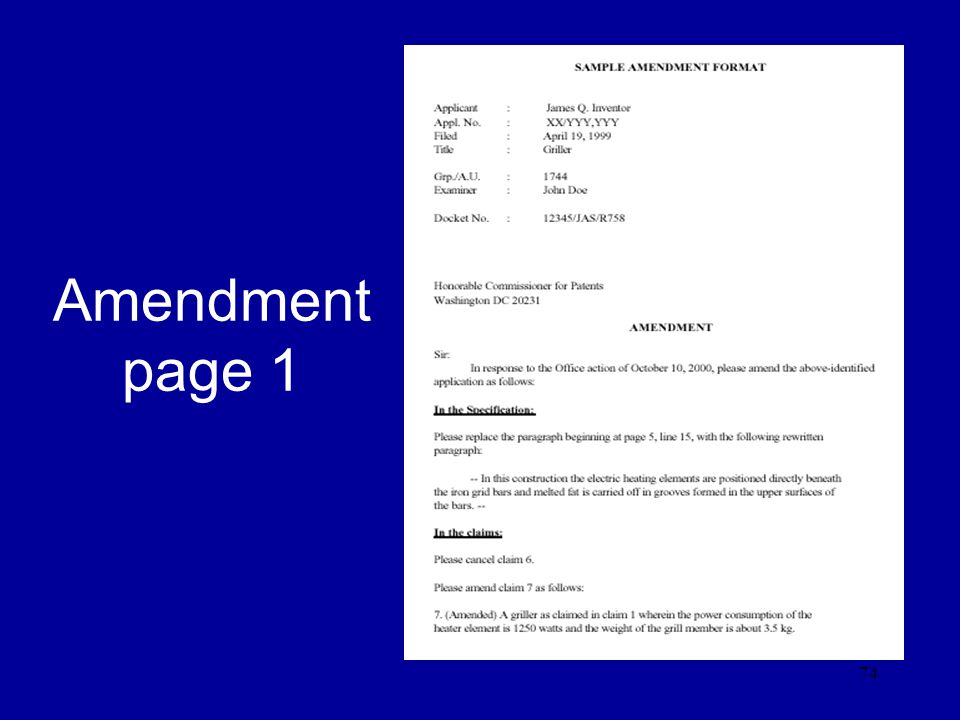 Amendment page 1