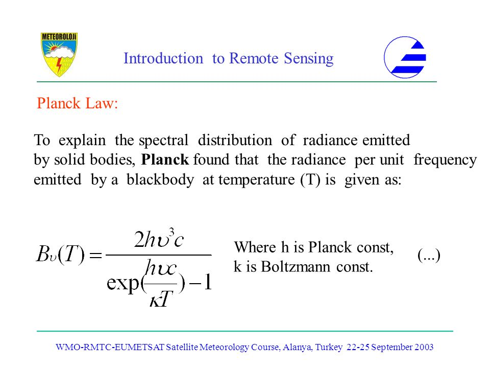 To explain the spectral distribution of radiance emitted
