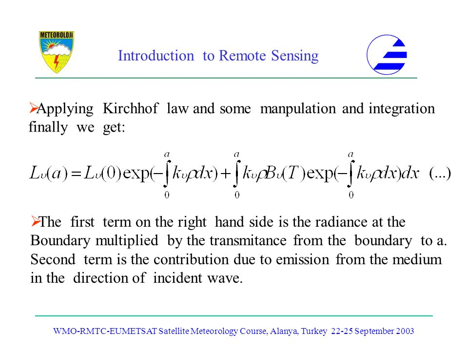 Applying Kirchhof law and some manpulation and integration