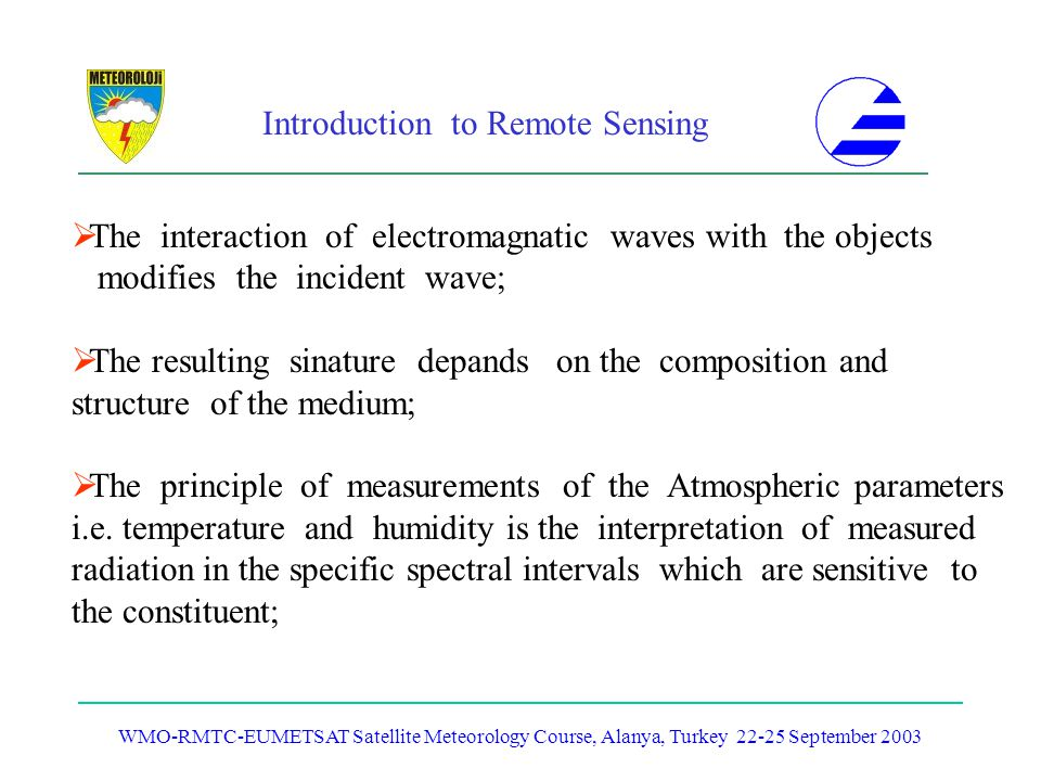 The interaction of electromagnatic waves with the objects