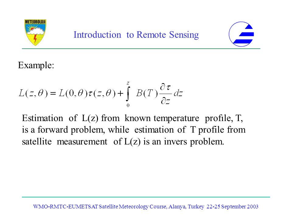 Estimation of L(z) from known temperature profıle, T,