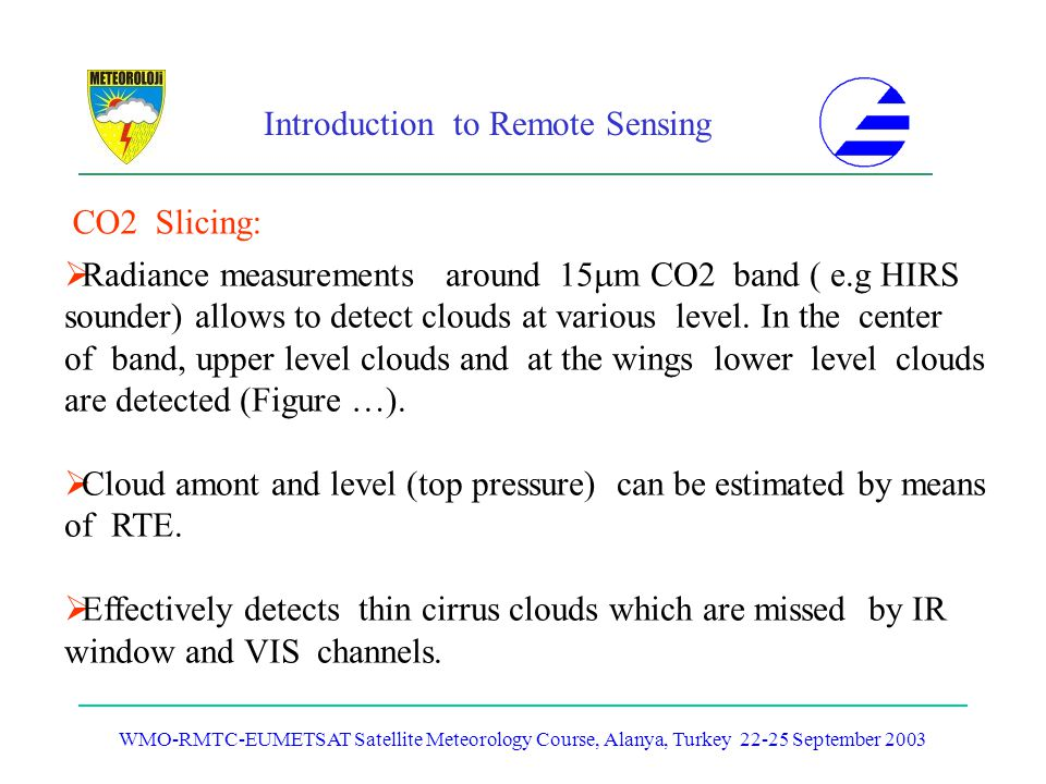 Radiance measurements around 15m CO2 band ( e.g HIRS