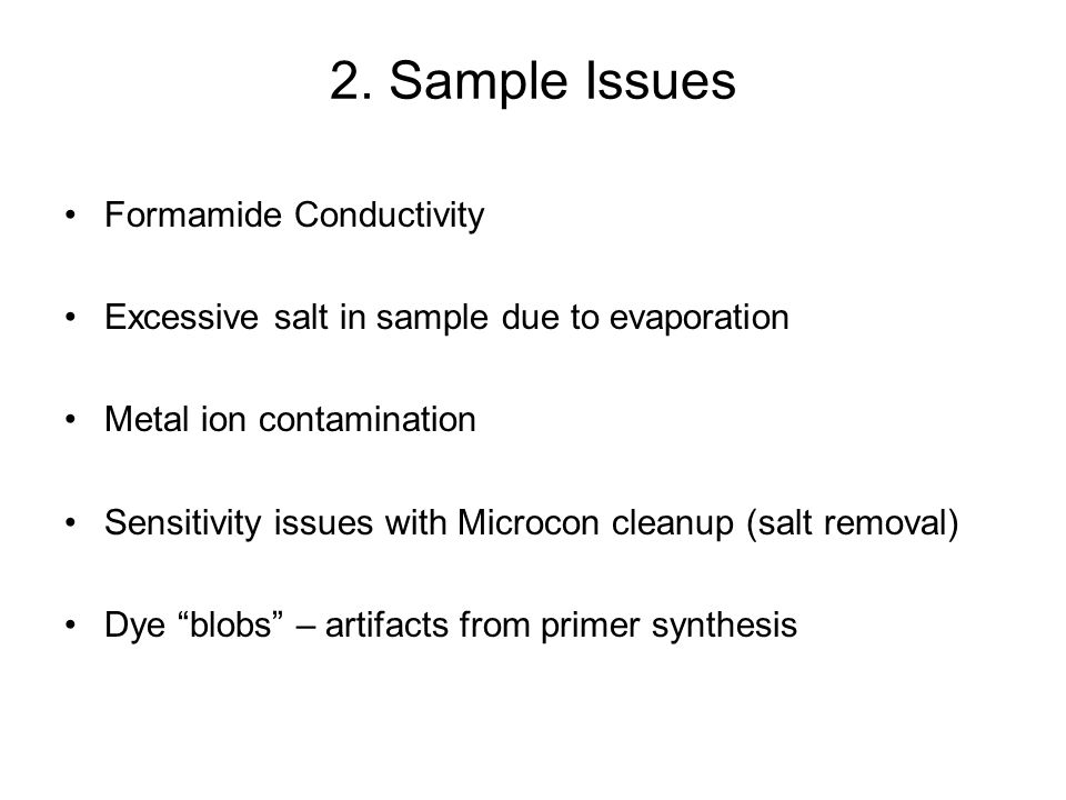 2. Sample Issues Formamide Conductivity