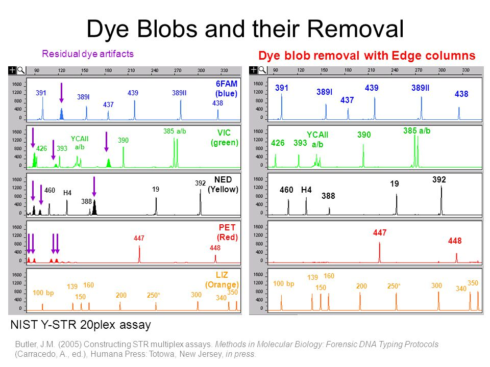 Dye Blobs and their Removal