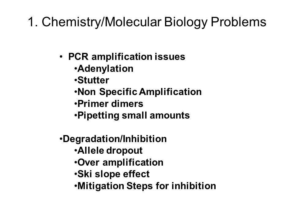 1. Chemistry/Molecular Biology Problems