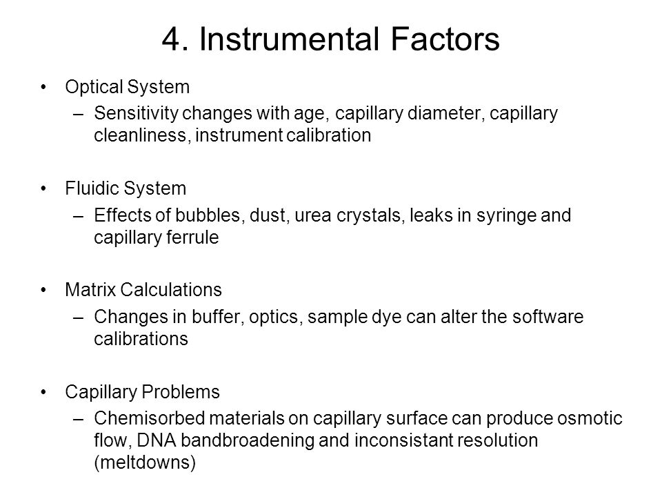 4. Instrumental Factors Optical System