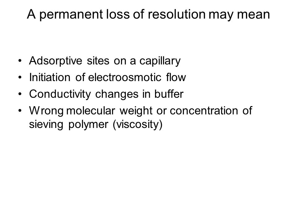 A permanent loss of resolution may mean