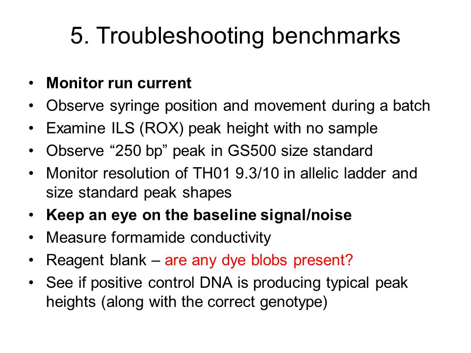 5. Troubleshooting benchmarks