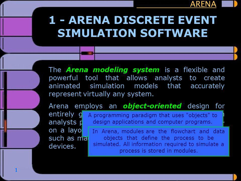 1 - ARENA DISCRETE EVENT SIMULATION SOFTWARE
